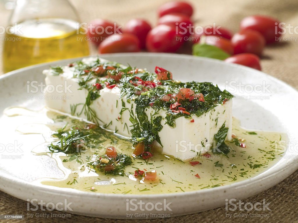 marinated cheese royalty-free stock photo