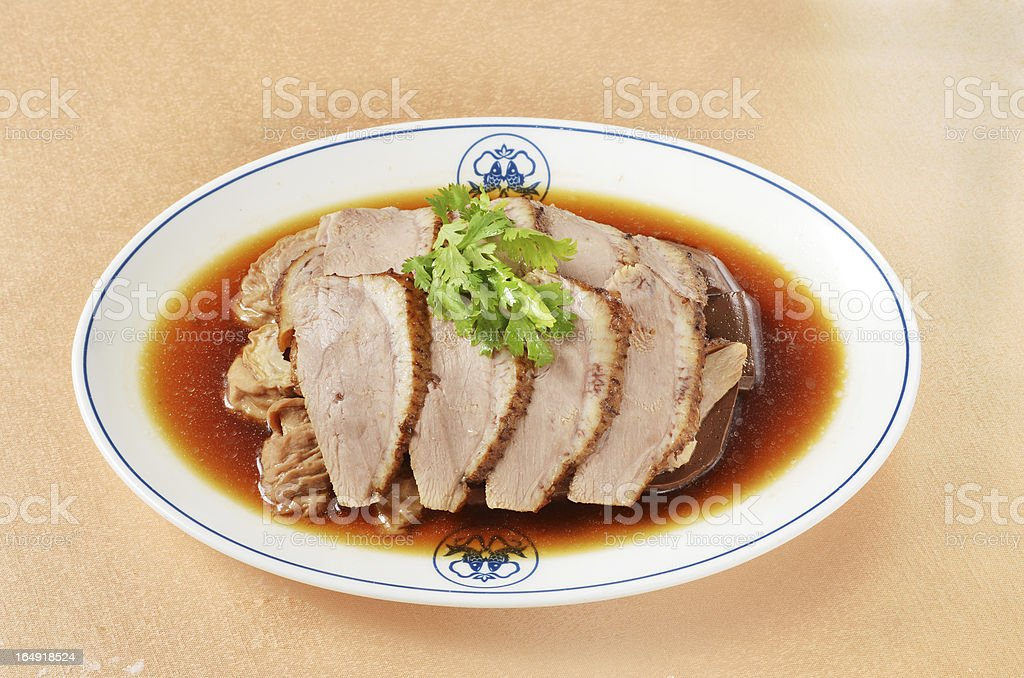 Marinated Duck Meat royalty-free stock photo