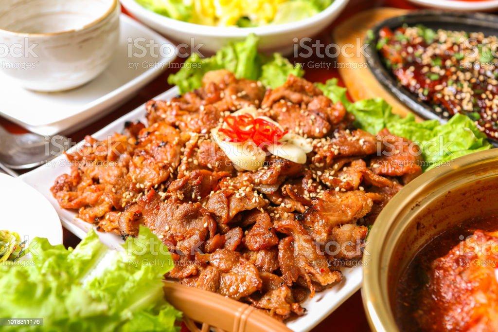 Marinated Grilled Bulgogi stock photo
