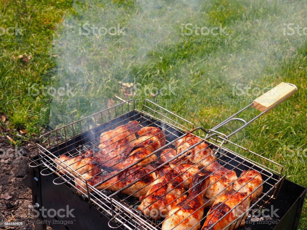 Marinated Grilled chicken Leg foto stock royalty-free