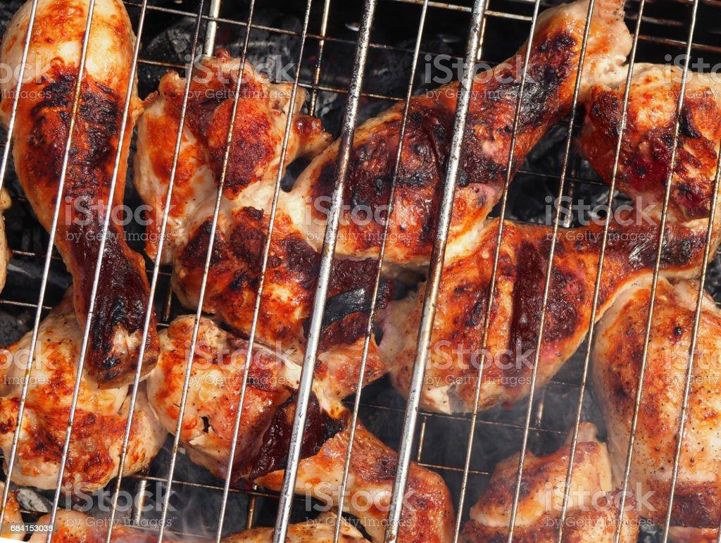 Marinated Grilled chicken Leg stock photo
