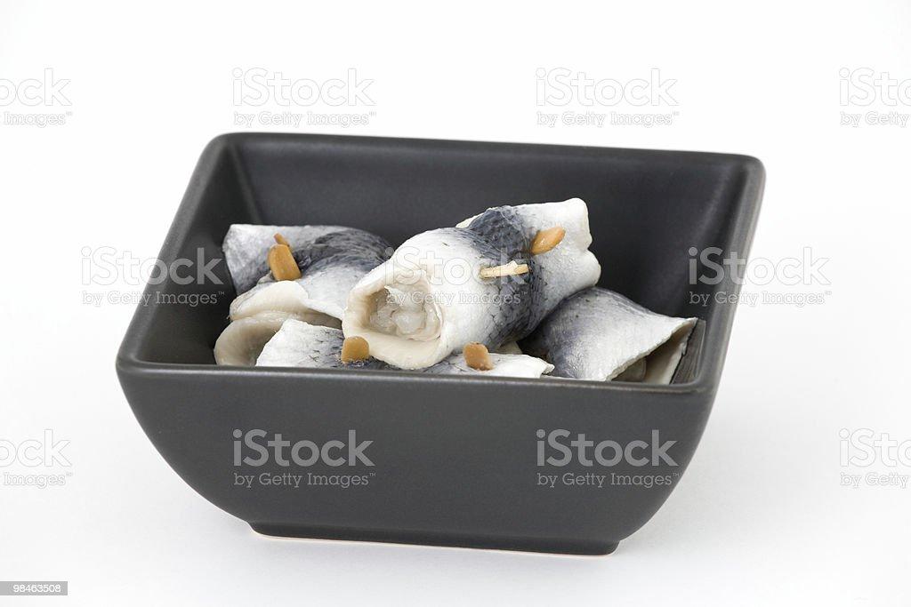 Marinated herring royalty-free stock photo