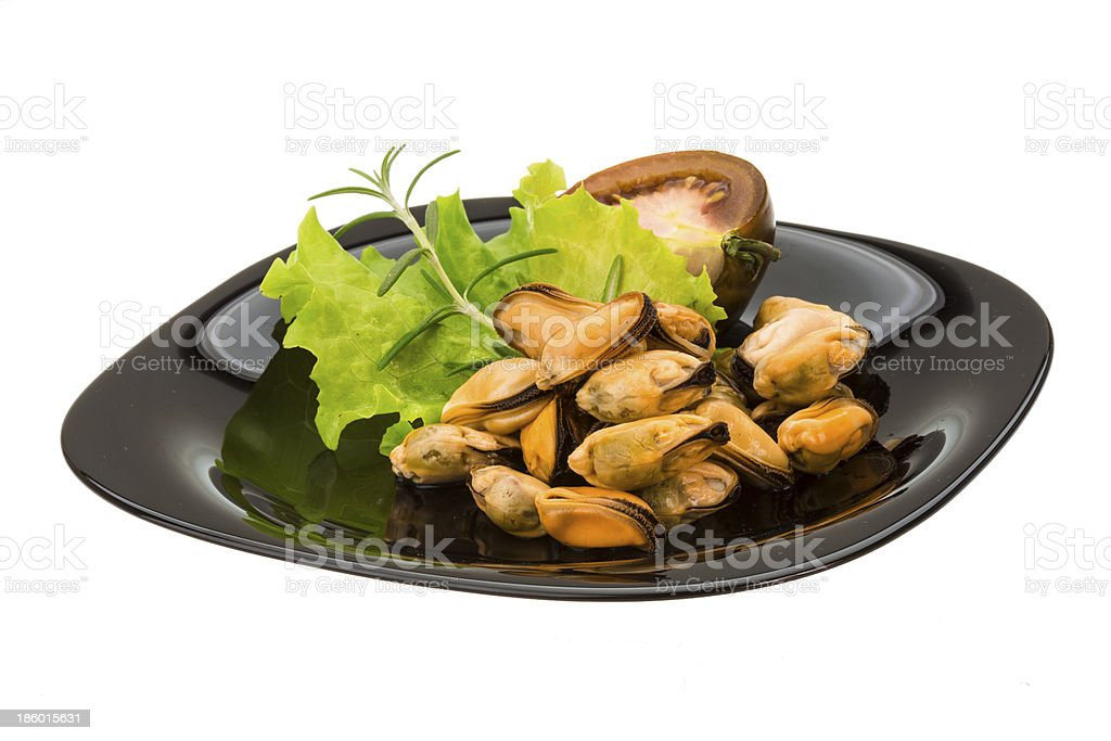 Marinated mussels royalty-free stock photo