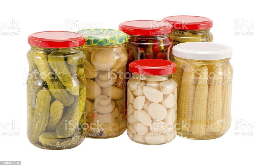 marinated preserve ecologic organic food glass pot stock photo