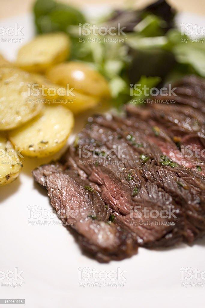 Marinated skirt steak royalty-free stock photo