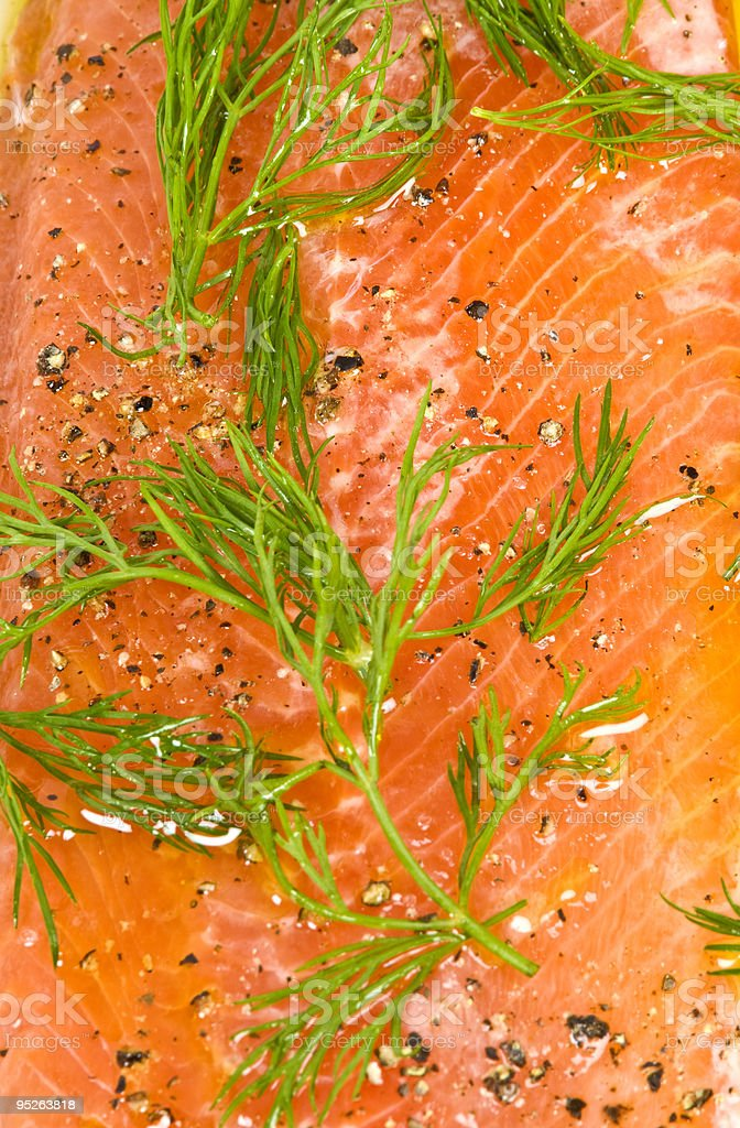 Marinated Trout with Dill royalty-free stock photo