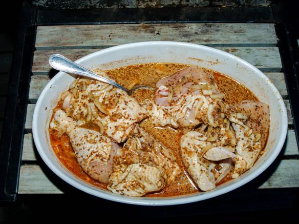 Marinating Chicken stock photo
