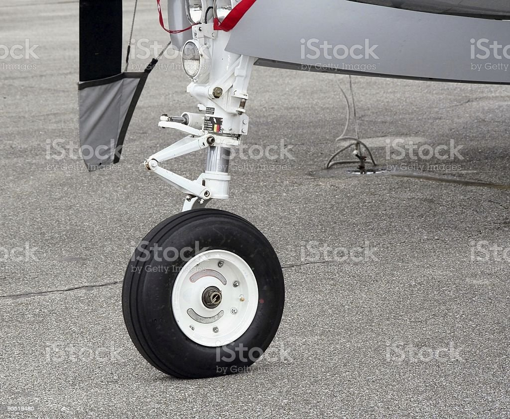 Marine aircraft wheel royalty-free stock photo
