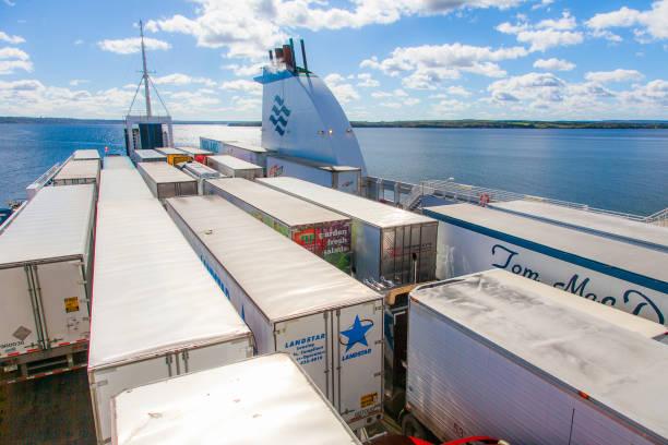 Marine Atlantic Ferry - Sydney, Nova Scotia, Canada stock photo