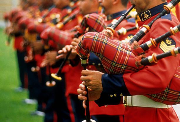 marine-band - schottische kultur stock-fotos und bilder