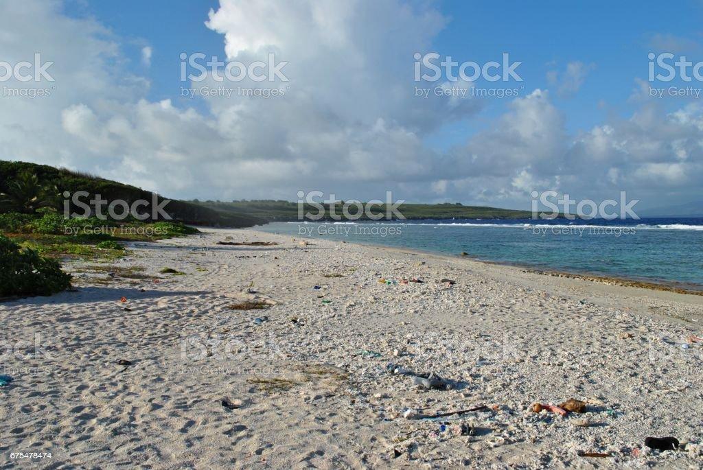 Plage de la marine, Saipan, Northern Mariana Islands photo libre de droits