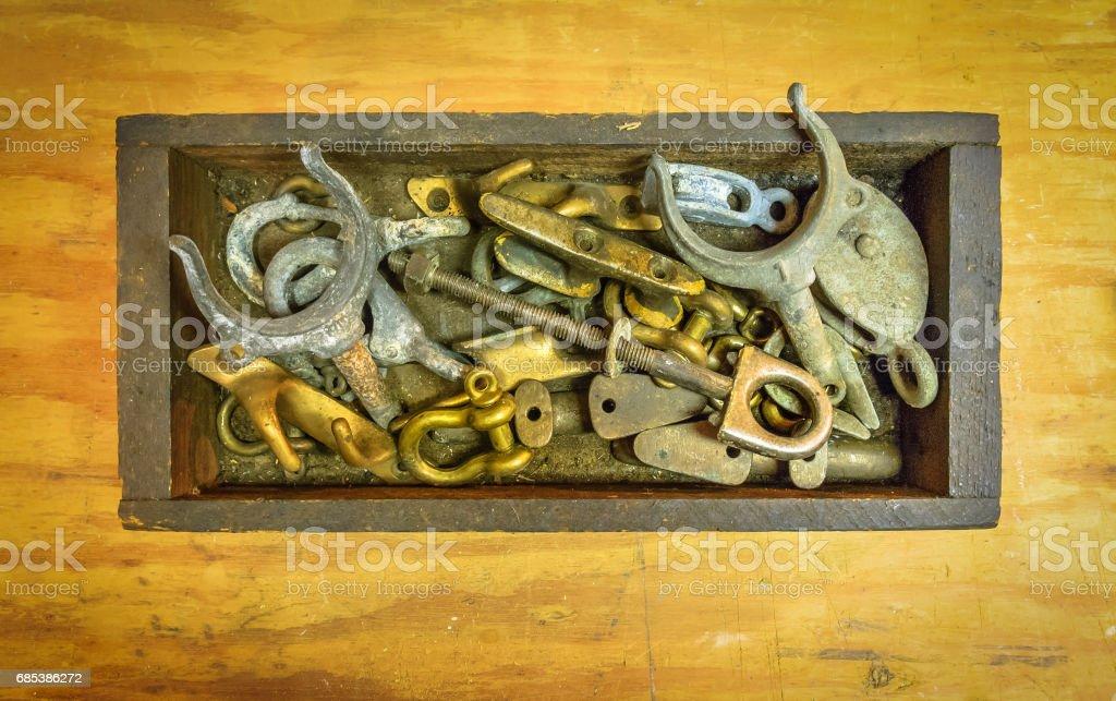 Marine Brightwork and Brass Spares stock photo