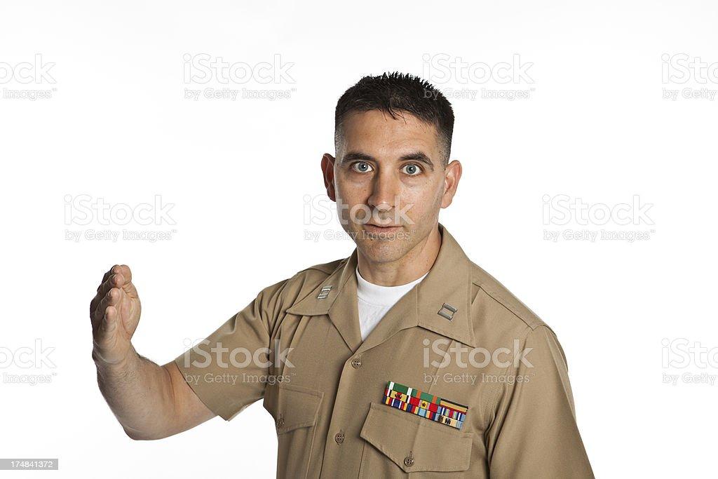 Marine Captain royalty-free stock photo
