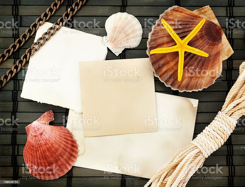 Marine card. royalty-free stock photo