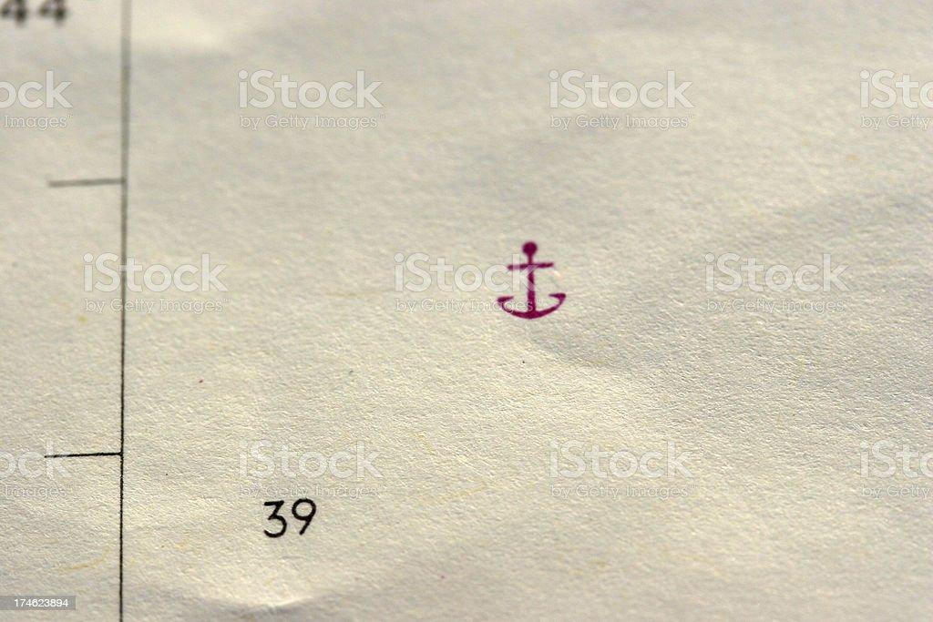 marine chart - anchor royalty-free stock photo