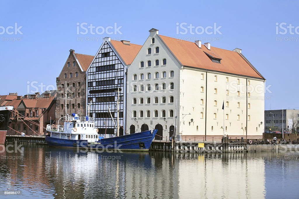 Marine city - Gdansk royalty free stockfoto
