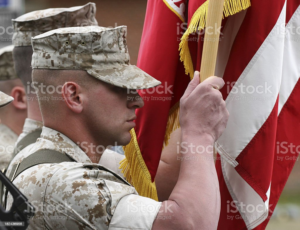 Marine Color Guard royalty-free stock photo