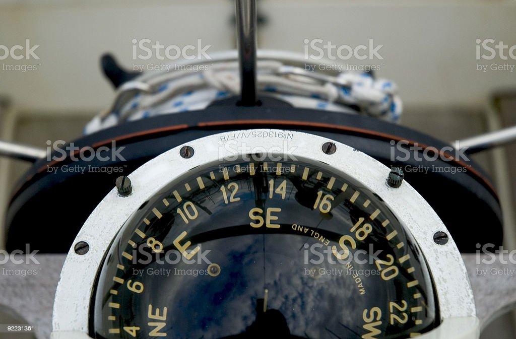 Marine Compass royalty-free stock photo