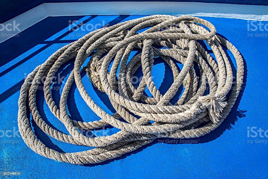 Marine cord stock photo