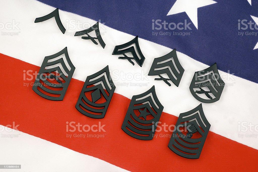 U.S. Marine Corp Enlisted Ranks royalty-free stock photo