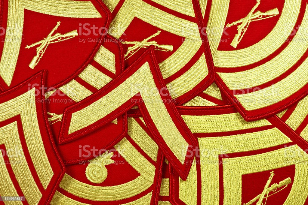 Marine Corp US Rank Patches royalty-free stock photo