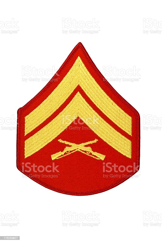 US Marine Corporal Rank Patch royalty-free stock photo