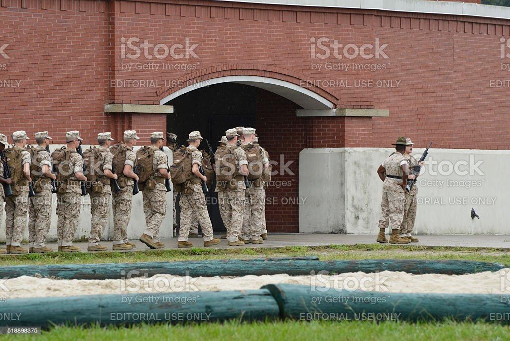 US Marine Corps basic training stock photo