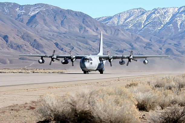 Marine Corps C-130 stock photo