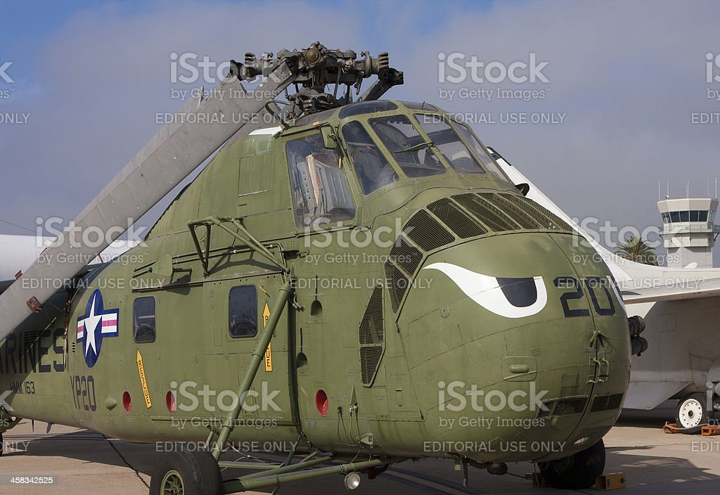 U.S. Marine Corps Helicopter royalty-free stock photo