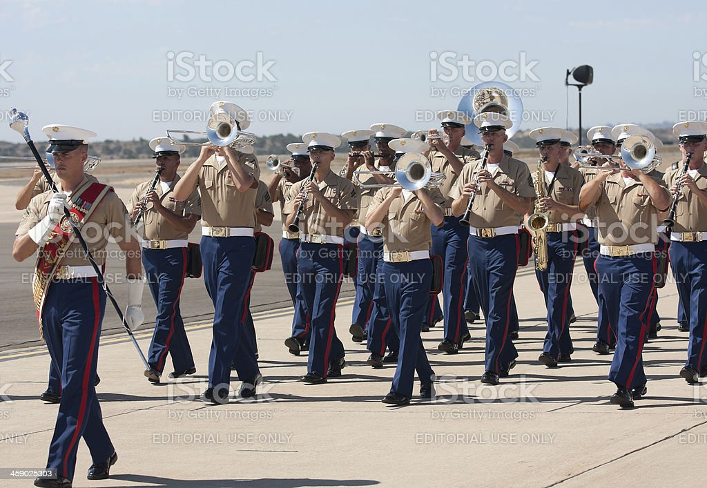 Marine Corps Marching Band royalty-free stock photo