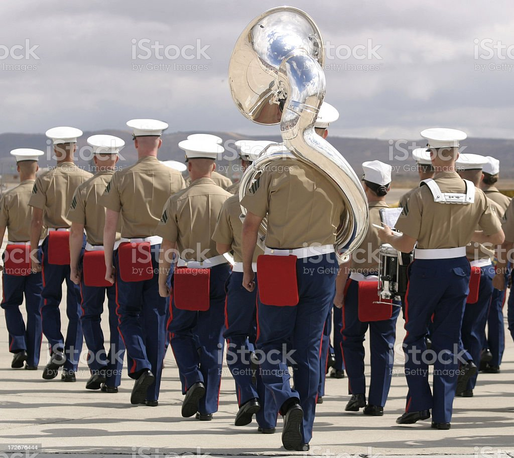 U.S. Marine Corps music band stock photo