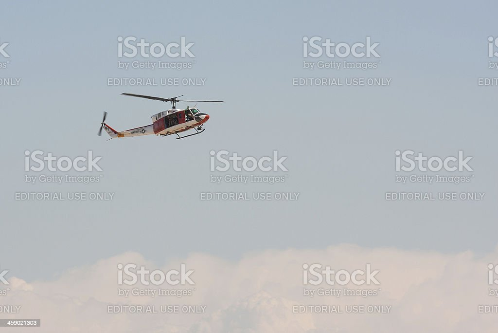 Marine Corps Rescue Helicopter royalty-free stock photo