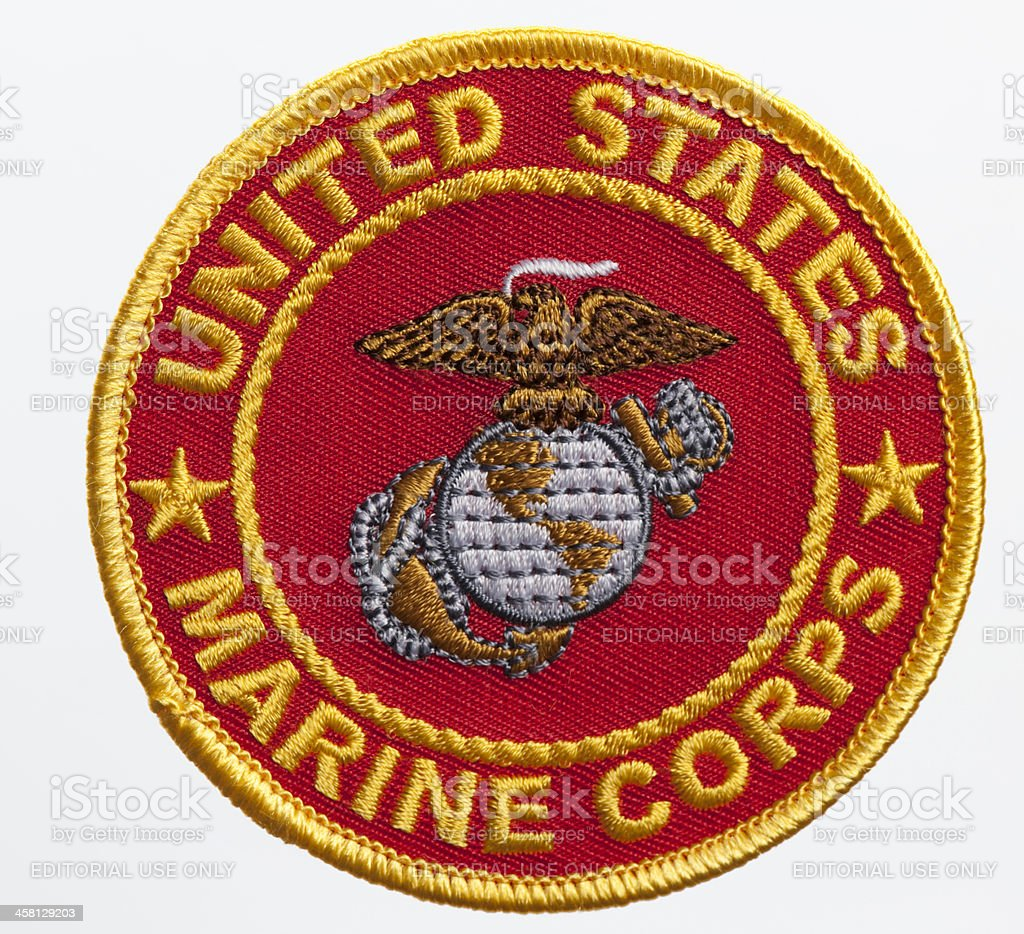 US Marine Corps Seal stock photo