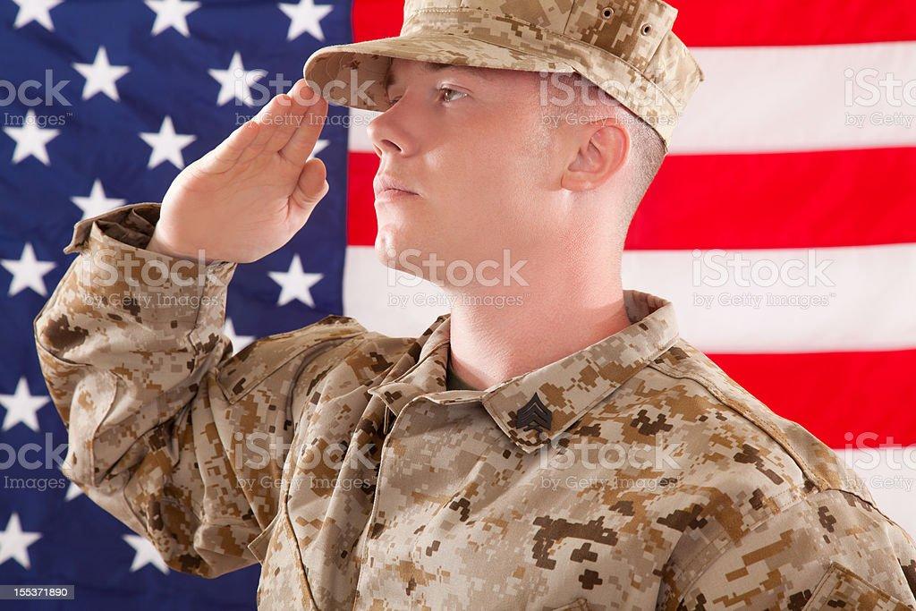 U S Marine Corps Soldier royalty-free stock photo