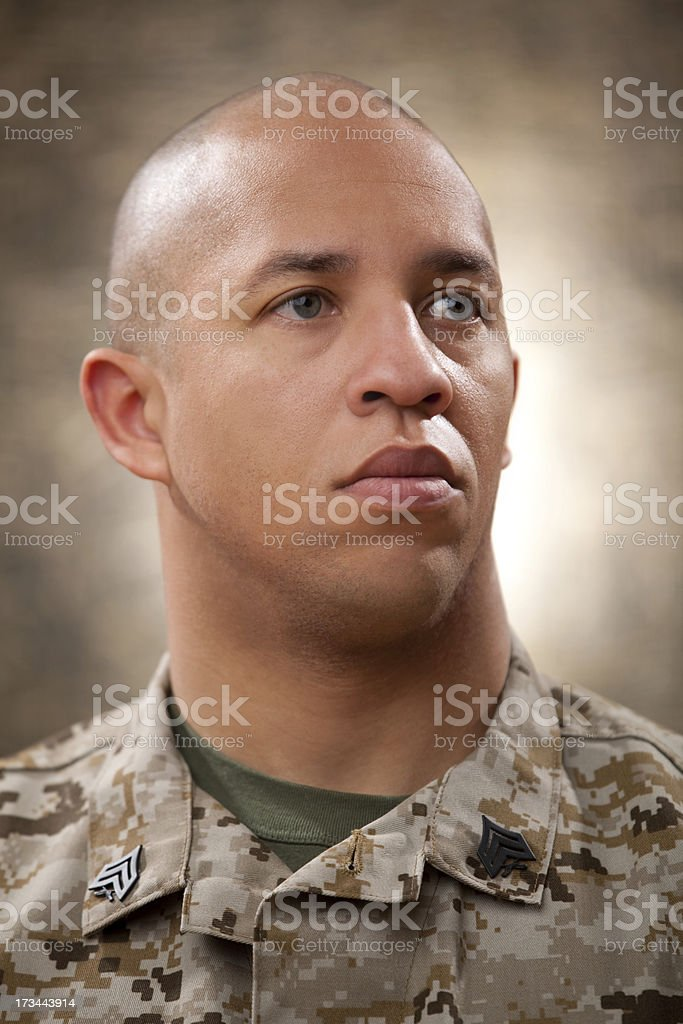 US Marine Corps Solider Portrait royalty-free stock photo