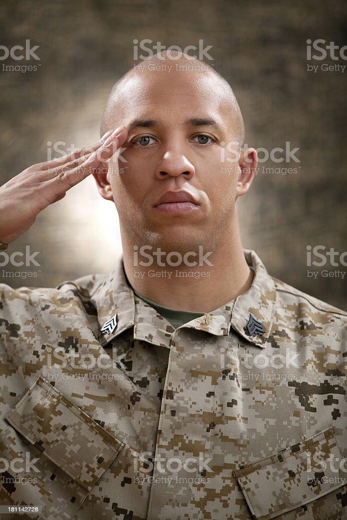 US Marine Corps Solider Portrait stock photo