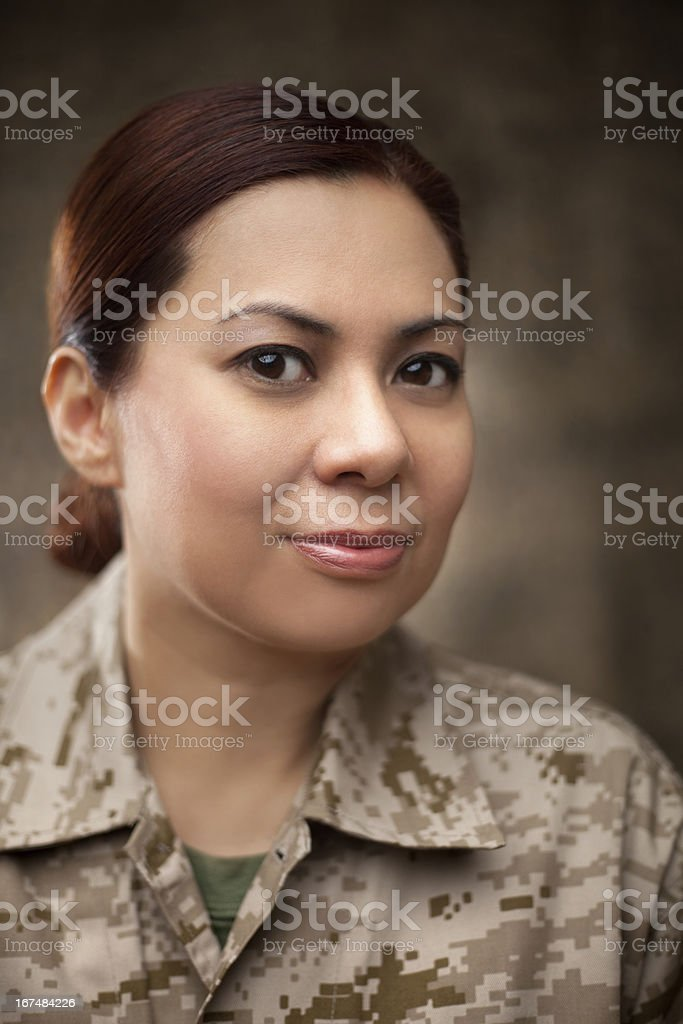 US Marine Female Soldier Portrait royalty-free stock photo