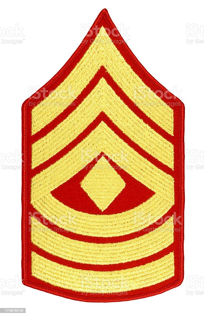 US Marine First Sergeant Rank Patch royalty-free stock photo