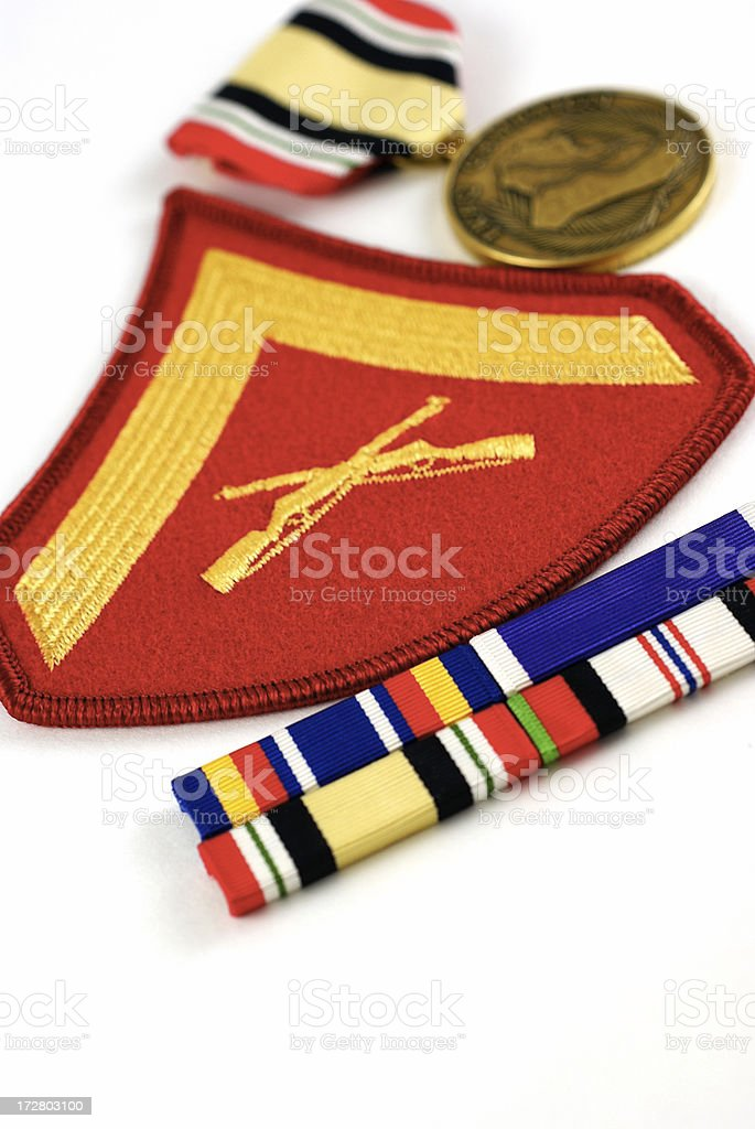 Marine Hero Against the War on Terror royalty-free stock photo
