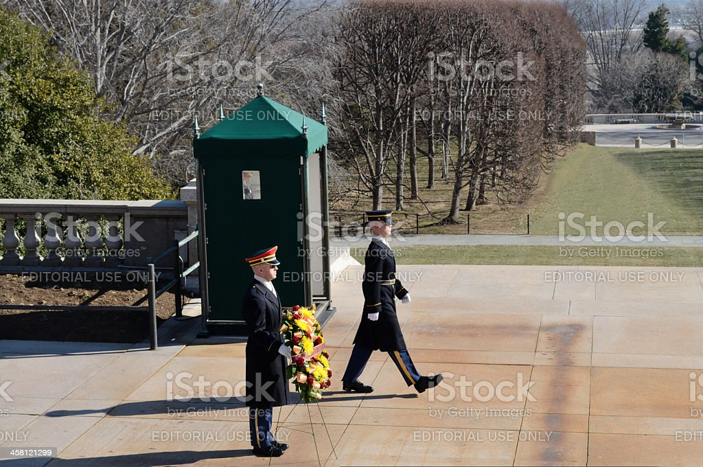 US Marine Honor Guard royalty-free stock photo