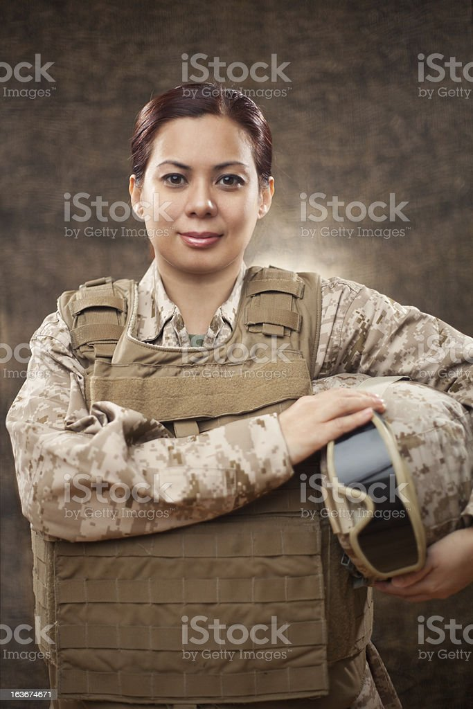 US Marine in Combat Gear stock photo