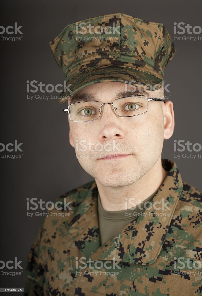 Marine in Glasses royalty-free stock photo