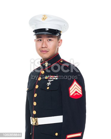 US Marine in uniform