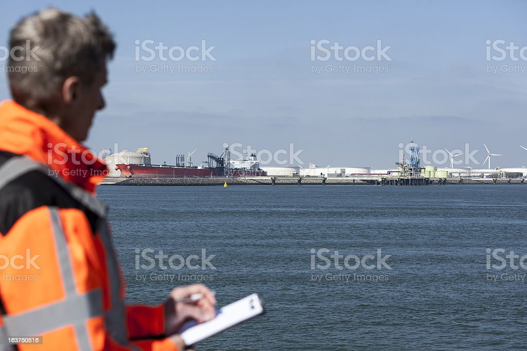 Marine inspector stock photo