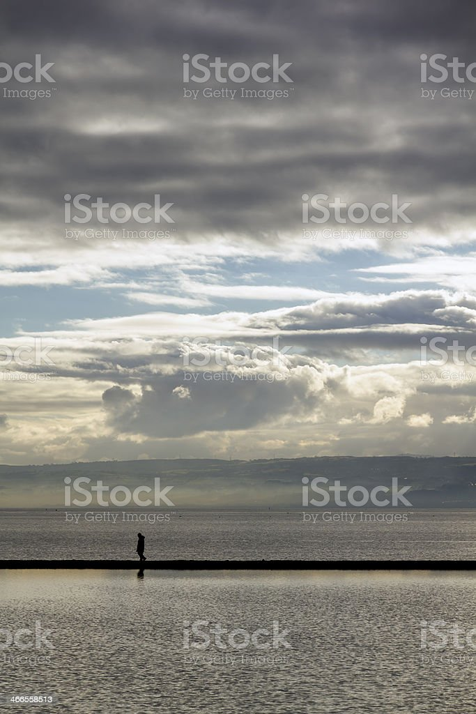 Marine Lake, West kirkby, Wirral royalty-free stock photo