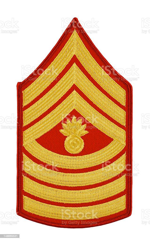 Marine Master Gunnery Sergeant Insignia royalty-free stock photo