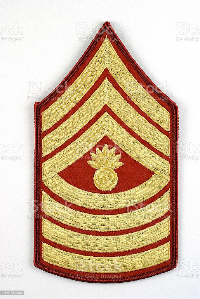 Marine Master Gunnery Sergeant Rank Insignia stock photo