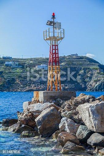 172424642 istock photo Marine Navigation Beacon. 911487814