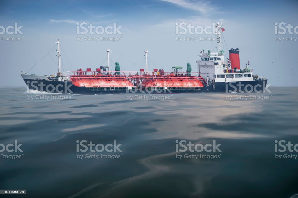 Marine oil tanker, International Transportation Shipping in the deep...
