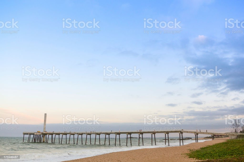 Marine outfall royalty-free stock photo